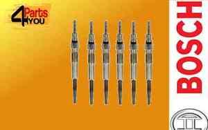 6X-GLOW-PLUG-BOSCH-BMW-E93-325-330-E90-F34-E91-F32-F10-F18-F01-X1-X3-X6-2-5-3-0