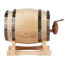 1L//1.5L//3L Oak Barrel Wood Cask Wooden Pedestal Storage Whiskey Wine Burned