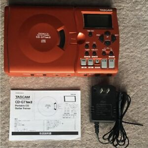 CD-GT1-MK2-TASCAM-Portable-CD-Guitar-Trainer-Metronome-Effect-with-Adapter-Used