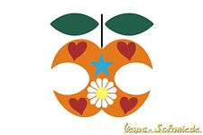 "Aufkleber ""Chi VESPA mangia le mele / Apfel 1"" - Sticker Apple Dekor Beinschild"