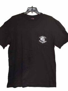 Harley-Davidson-Herren-schwarz-kurzarm-Shirt-034-Demon-Schalthebel-034-Tasche-XL