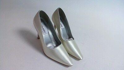 Nuevos Zapatos de boda Dyeables-Marfil Satinado debutante-US 9 B UK 7 #13R488
