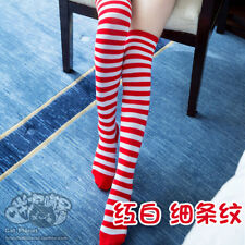 e2e6383e6005d item 2 Lolita Girl Striped Thigh High Socks Sporty Athletic Cosplay  Stockings Over Knee -Lolita Girl Striped Thigh High Socks Sporty Athletic  Cosplay ...