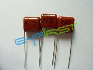 100pcs CBB 0.1uF 104J 630V 100nF Metallized Film Capacitor P=15MM
