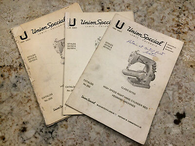 Instructions /& List of Parts catalog 253 UNION SPECIAL 33700A 33700C hemming