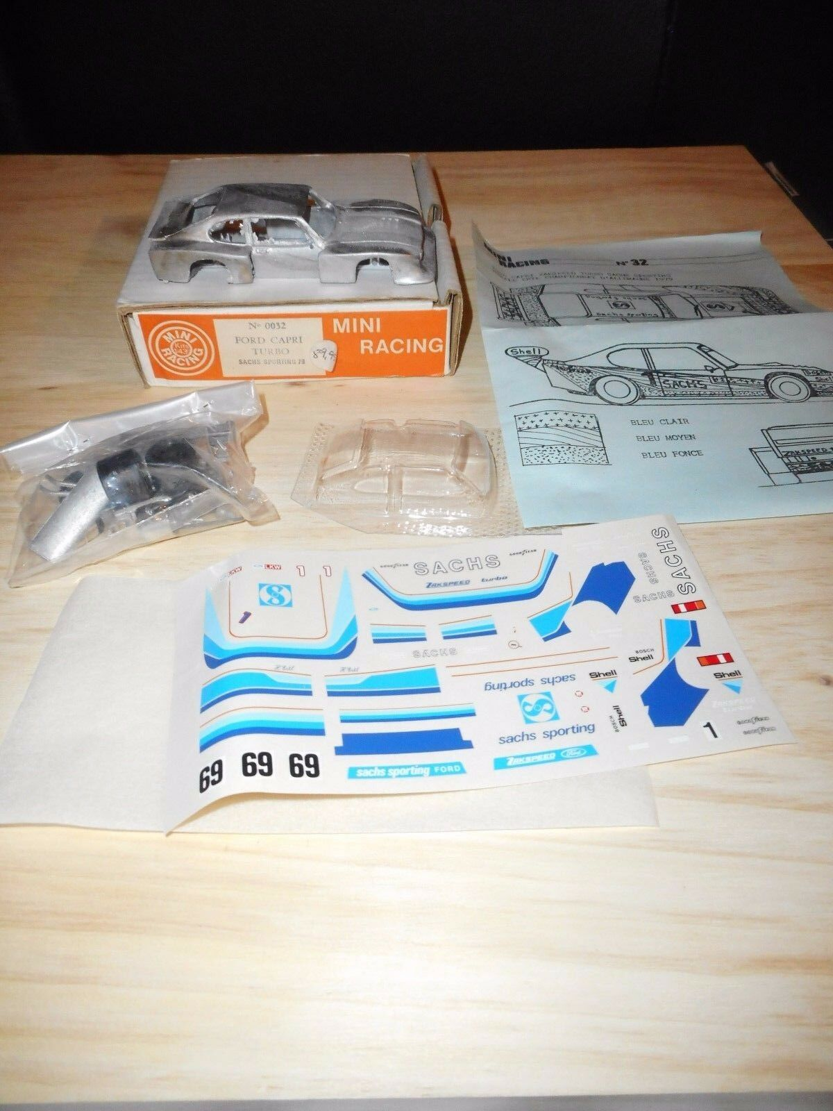 KIT 1 43 vintage MINI RACING FORD CAPRI SACHS SPORTING  allemagne 1979 métal