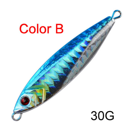 Details about  /Minnow 14g 21g 30g Lead Casting Spinning Baits Fishing Lures Jig Metal Slice
