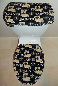 Nfl New Orleans Saints Fleece Fabric Toilet Seat Cover Set