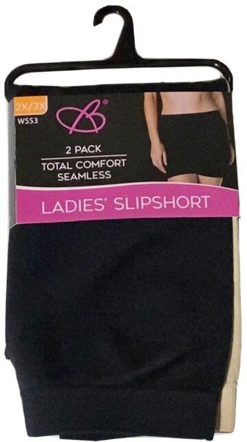 2 Pack Womens SLIPSHORTS Panties Shapewear Size 2x/3x