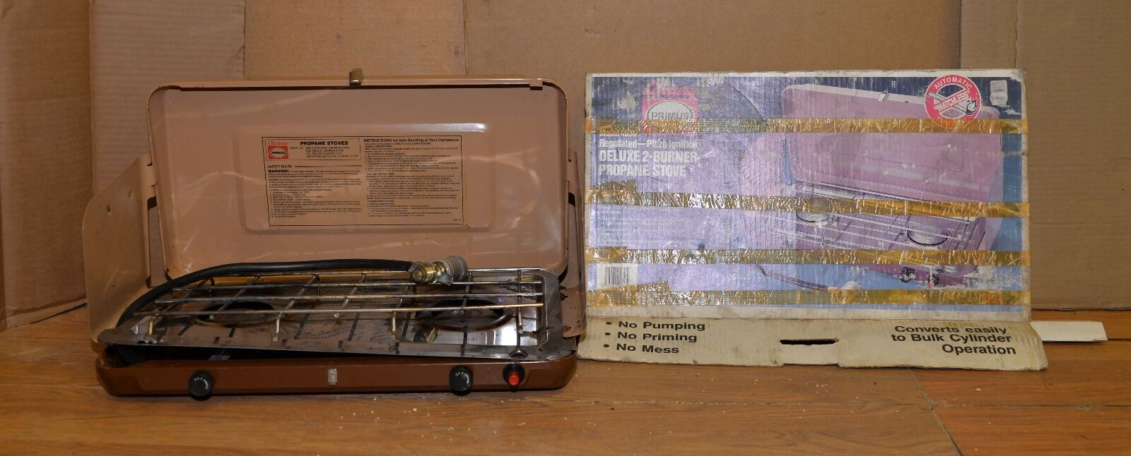 Rare Primus model 4930  matchless deluxe 2 burner stove van camper camping tool  the lowest price