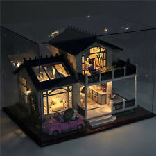 With Furniture LED Light and Music Box Dollhouse Miniature DIY Kit Dolls House