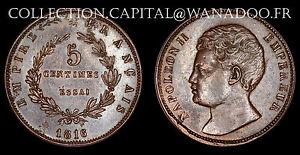 France-Essai-5-centimes-1816-Napoleon-II-Bronze-Maz-643