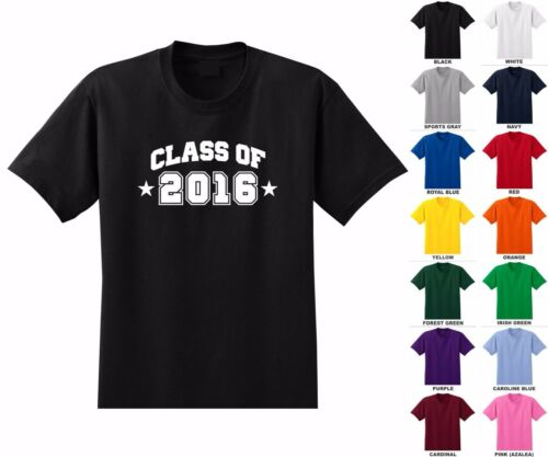 Class of 2016 17 19 18 20 arched pick year graduation kid/'s youth t-shirt