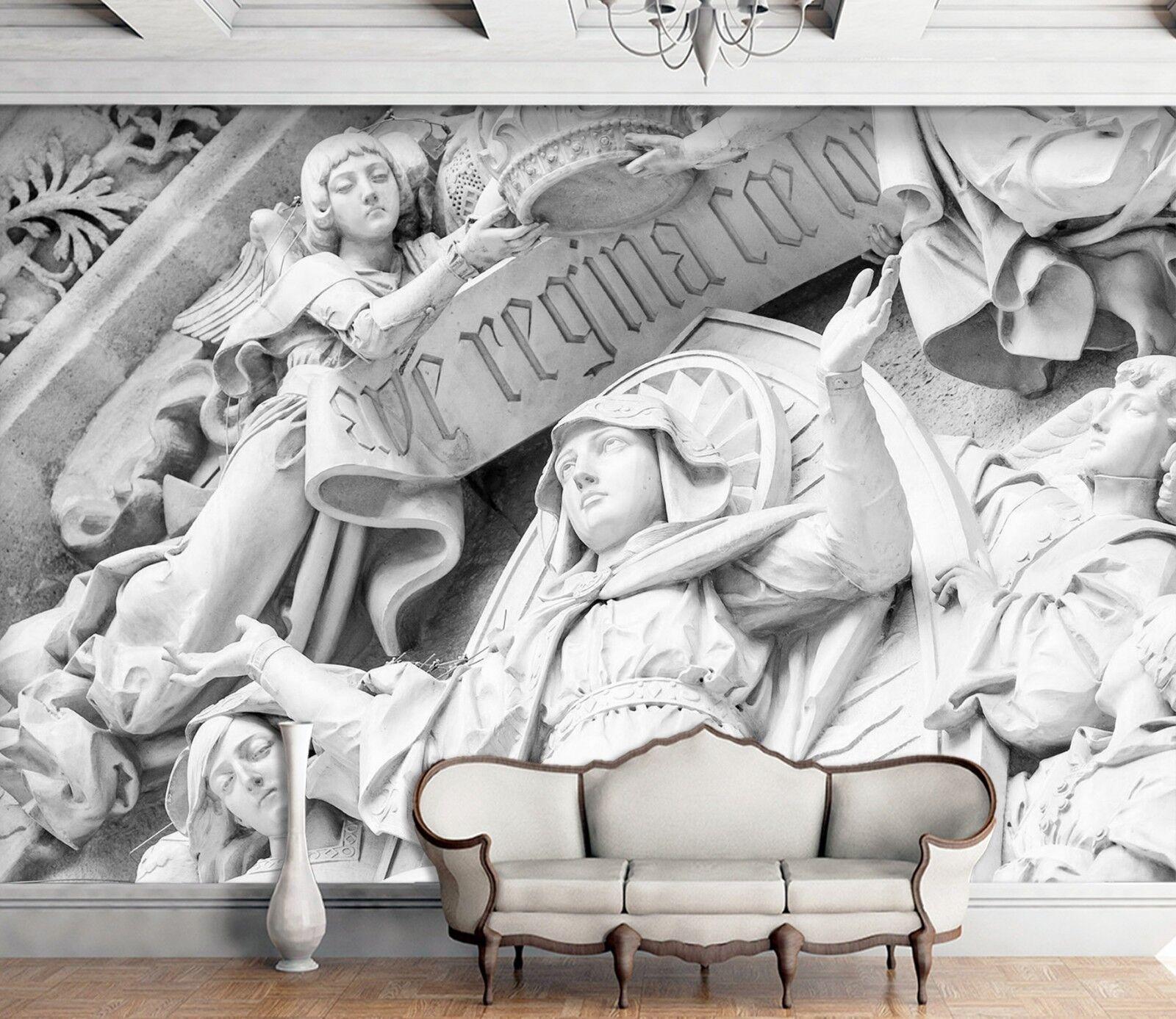3D Angel Goddess Statue 2 Wallpaper Mural Wall Print Decal Indoor Murals AU