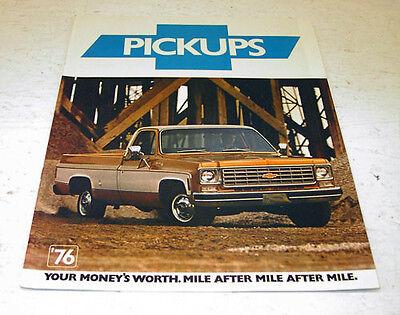 NOS 1976 Chevrolet Chevy Pickup Silverado Blazer Suburban 4x4 Sales Brochure