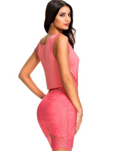 Suzanjas Cocktailkleid mit Spitzenrock rosa Größe L