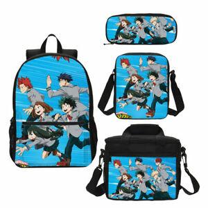 My Hero Academia Kids Backpacks Insulated Lunch Bag Pencil Bag Shoulder Bag Lot