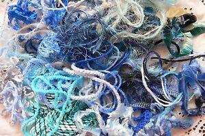 EMBELLISHMENT-FIBRE-Pk-Mix-appx-1-2-Metre-Ea-over-30-BLUE-Colour-Njoyfull-Crafts