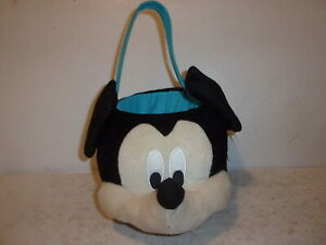 Disney-Mickey-Mouse-Plush-Basket-for-Easter-or-Halloween-NWT