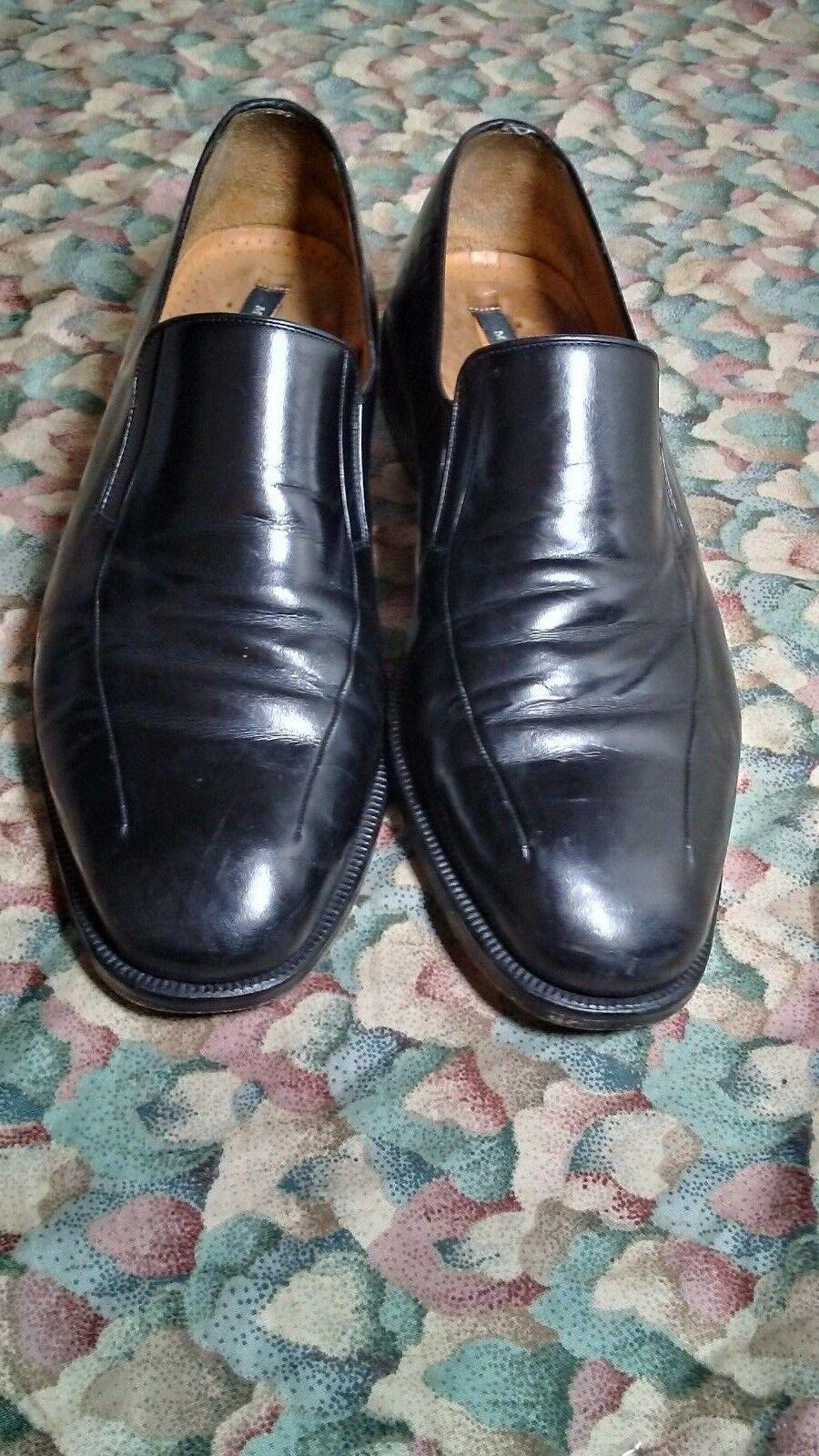MAGNANNI  Leather Loafers shoes Sz. 10.5 M Black Men