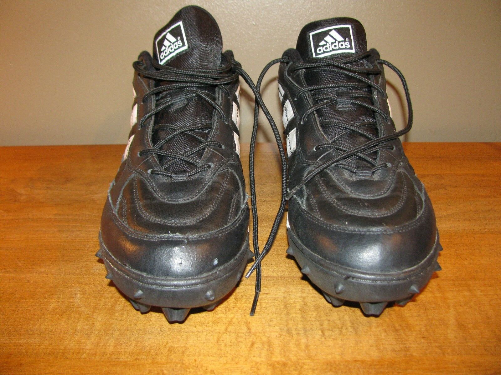 Adidas Baseball Shoes Men's Shoes Sz 16 Black/White Style Worn Once Seasonal clearance sale