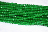 """New 4mm Natural Emerald Faceted Loose Beads Gemstone 15""""AAA"""