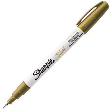 Sharpie Paint Marker Pen Oil Based Extra Fine Gold