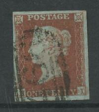 PENNY RED IMPERF Plate 106 HI...VF USED...LARGE MARGINS