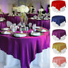 Square Satin Tablecloth Table Cover For Banquet Wedding Party Home Decor 145CM