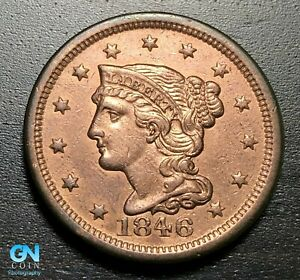 1846-Braided-Hair-Large-Cent-MAKE-US-AN-OFFER-B3441