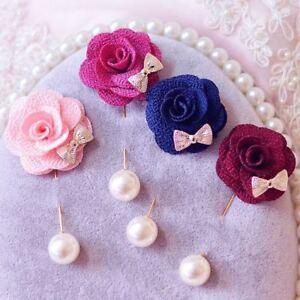 Elegant Women s Lapel Flower Rose Corsage Wedding Boutonniere Stick ... 09d0b69d4