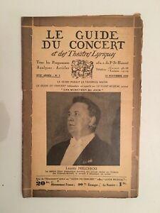 El Guía de La Concierto Y Las Teatro Letra Lauritz Melchior N º 7 1930