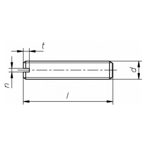 14 H galv mit Schlitz//Kegelkuppe 10x DIN 551 Gewindestifte M4x30 verzinkt fa