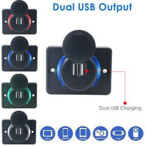 12V-Car-Dual-USB-Port-Charger-Cigarette-Lighter-Socket-Adapter-Power-Adaptor