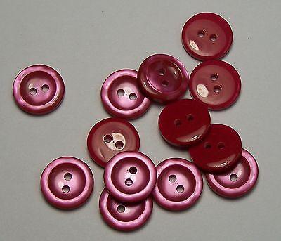 10pc 16mm Rojo Cereza Rojo Oscuro Abrigo Cárdigan Niños Pantalón Botones De Costura 0186 Sabor Puro Y Suave