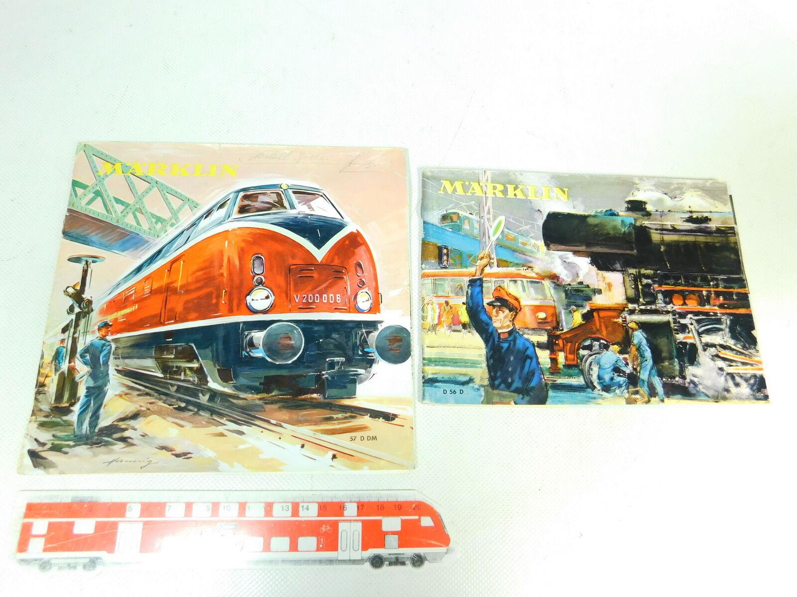 Bt689-0, 5 x märklin Catalog  D 56d d56d 1956 + 57d DM 57ddm 1957, 2. wahl