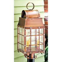 Washington Post Lantern Copper Brass Outdoor Light Fixture Unique Primitive Lamp