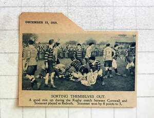 1919-Rugby-Match-Between-Cornwall-And-Somerset-Played-At-Redruth