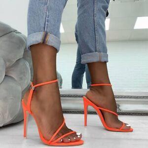 Sandales-Sexy-Daim-Fluo-Haut-Talons-11-Cm-du-35-au-42-Neuves-4-couleurs