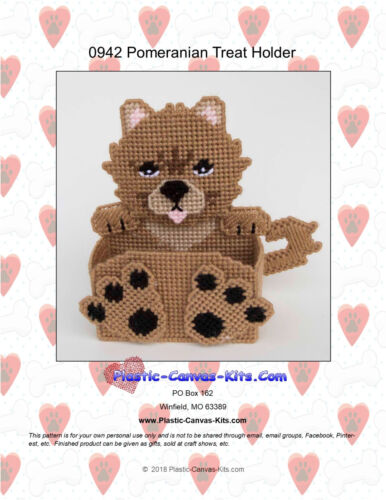 Plastic Canvas Pattern or Kit Pomeranian Dog Treat Holder