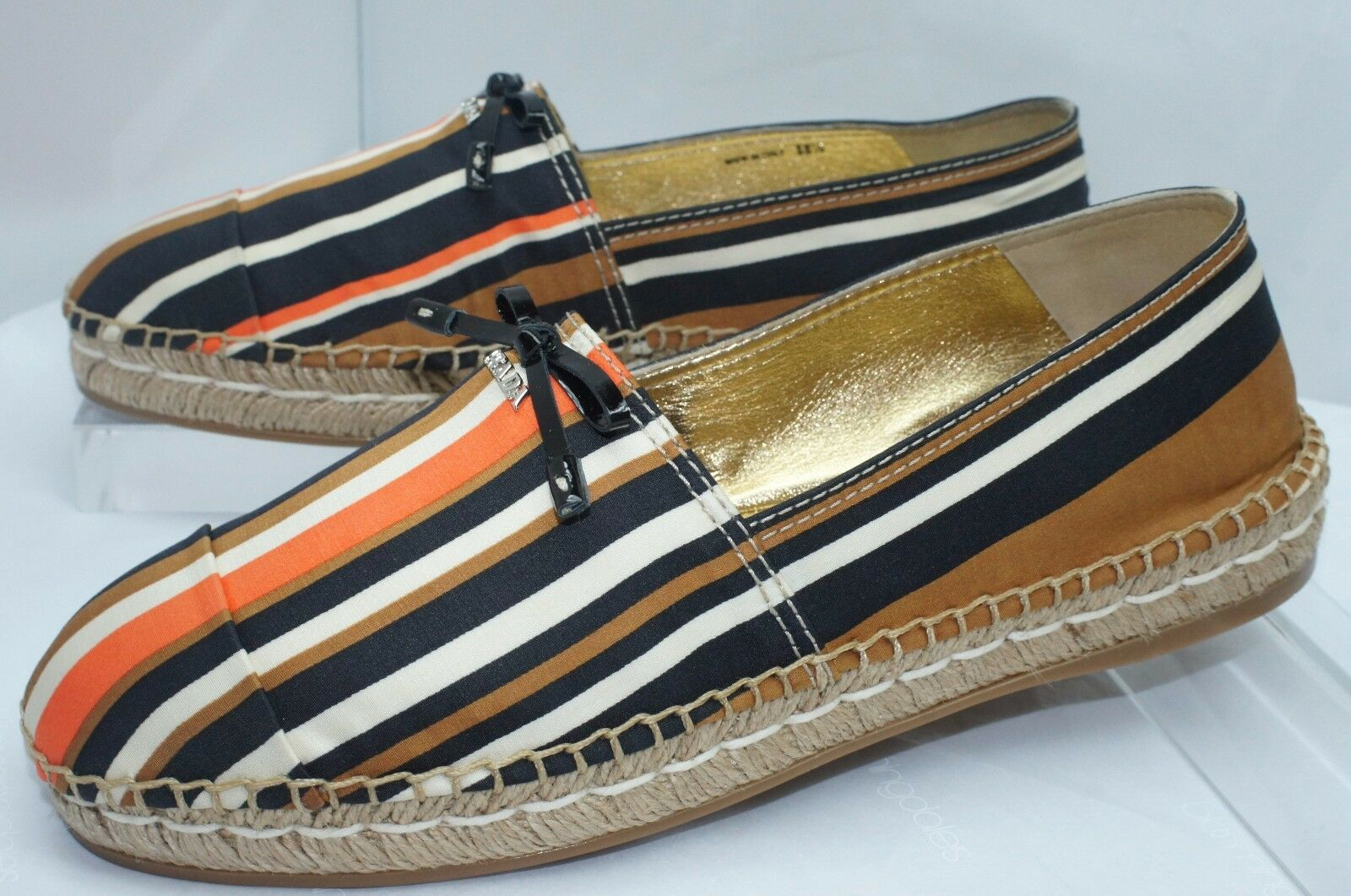 New Prada Womens shoes Espadrilles Flats Size 38.5 Calzature women Holiday Sale