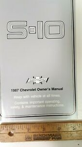 1987-S-10-Truck-Original-Owners-Manual-Guide-Excellent-NOS-Condition-US