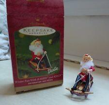 Hallmark Keepsake Ornament Winter Fun with Barbie & Kelly 2000 QXI6561 Mattel