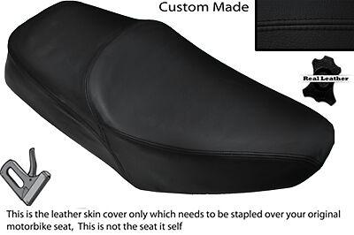 BLACK STITCH CUSTOM FITS YAMAHA SR 125 DUAL LEATHER SEAT COVER