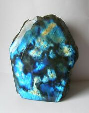 Cut Base Face Polished Blue Labradorite Crystal  822g