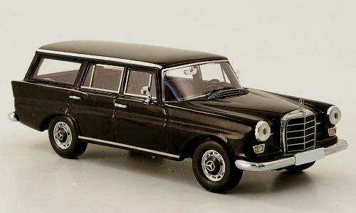 Merveilleux en résine-MODELCAR Mercedes-Benz 230 UNIVERSEL (W110) 1964-noir - 1 43