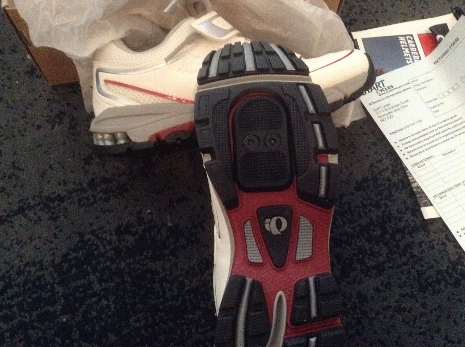 PEARL IZUMI Ciclismo Scarpe Taglia Nuovo di di di Zecca UK4 Bianco EU37 * 5b0ab6