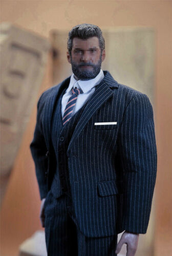 """1//6 Men Business Suit Set For 12/"""" Hot Toys PHICEN TBL M34 M35 Male Muscular Body"""
