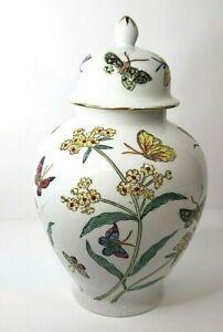 Colorful Butterfly Ginger Jar Japanese Porcelain Ware