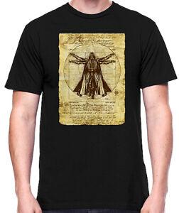 Star-Wars-Vitruvian-Darth-Vader-Old-Art-Black-Men-039-s-T-Shirt-New
